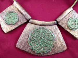 Detail of pendants on Celtic Necklace