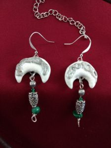 Celtic Sickle Moon Earrings